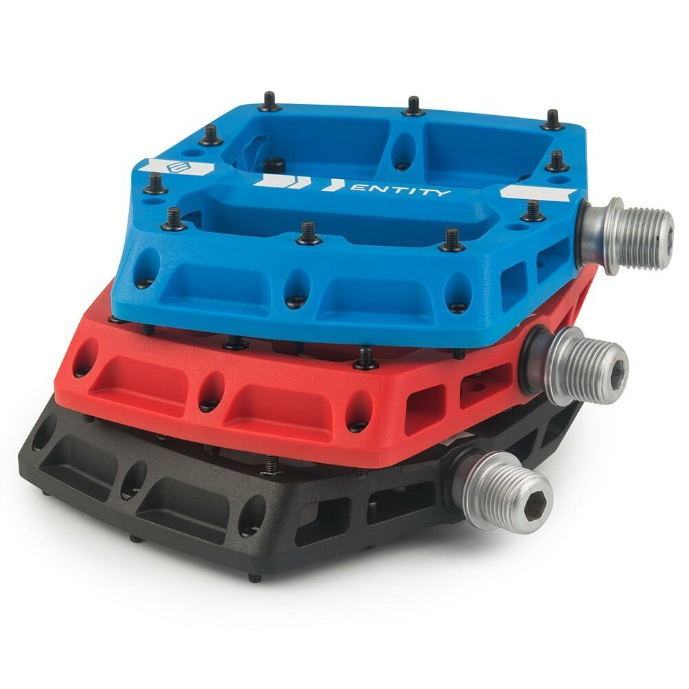 Entity PP20 Composite Flat Pedals - Blue | Free Shipping