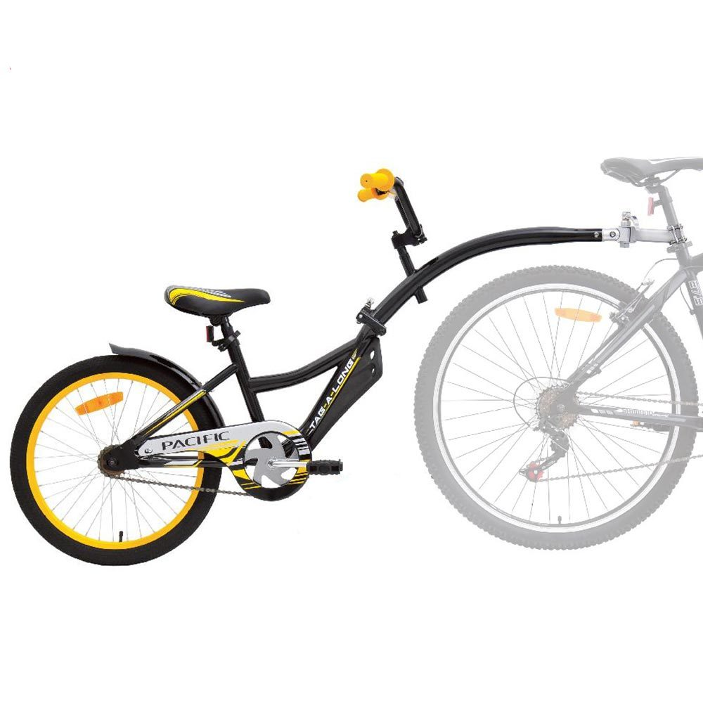 Pacific Tag Along Kids Bike Black Yellow Fast Shipping