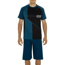ION Traze AMP LONG Mountain Bike Shorts & Short Sleeve Jersey - Blue