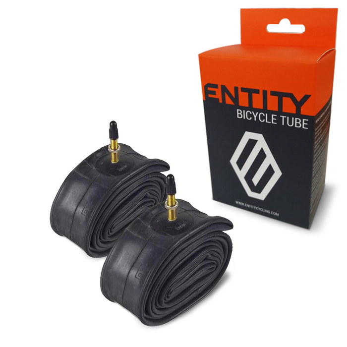 2x Entity Inner Tube 700x18-28c Presta Valve 48mm Road Bike