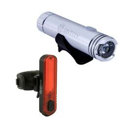 Entity HL400 & RL35 - 400 Lumens Bicycle Light Set - USB Rechargeable