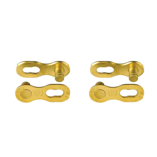 2x KMC CL10G 10 Speed Chain Gold Quick Link