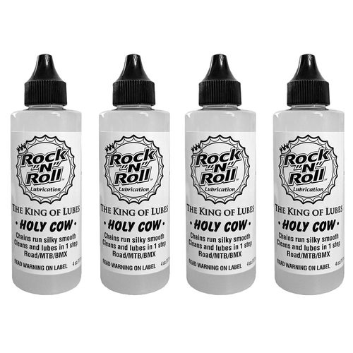 4x Rock 'N' Roll Holy Cow Bike Chain Lube White - 118ml